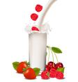 strawberry milkshake vector image