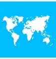 world map on blue background for design vector image
