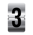 Alphabet silver flipboard letters 3 vector image