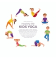 Yoga kids poses vector image