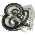 abstract ampersand symbol vector image