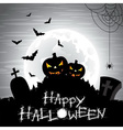 on a Halloween theme on a moon vector image vector image