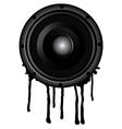 black speaker and splash vector image vector image