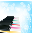 piano musical background vector image vector image