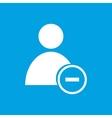 Remove user white icon vector image vector image