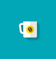 Flat Icon of Cup of Coffee vector image vector image