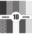 Vintage set seamless elements design vector image