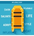 Boat for rafting or swimming on the water vector image