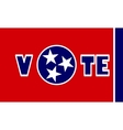 vote text on Tennessee state flag backdrop vector image