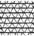 Seamless hand drawn triangles pattern vector image