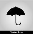 Umbrella black modern web design icon vector image