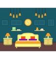 bedroom cozy interior vector image