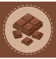 Pieces of Chocolate Block vector image