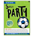 Soccer Football Party Flyer vector image