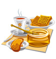 hot tea with honey vector image