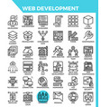 web development icons vector image