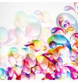 Abstract colorful arc-drop background vector image vector image