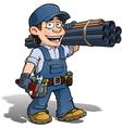 Handyman Plumber Blue vector image
