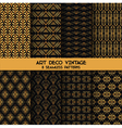 Art Deco Vintage Patterns - 8 Seamless Backgrounds vector image