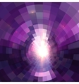 Abstract purple technology concentric mosaic vector image