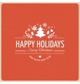 Red Christmas Background With Typography vector image vector image