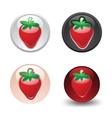 strawberry button set web 20 icons vector image