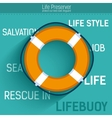 Lifebuoy for rescue salvation life icon vector image