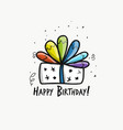 birthday present postcard for your design vector image