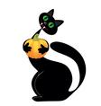black cat halloween vector image