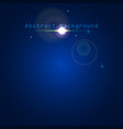 blue abstract background with light effects vector image