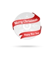 Christmas medal with red ribbon isolated on white vector image