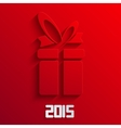 gift background 2015 new year vector image