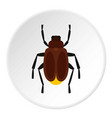 Harvest bug icon circle vector image