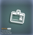 Id card icon symbol on the blue-green abstract vector image
