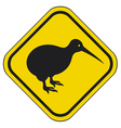 kiwi road sign vector image