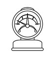pressure gauge icon image vector image