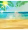 Tropical beach template vector image