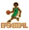 vintage basketball player vector image