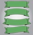 Set of green ribbon banners vector image vector image