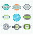 collection of labels 2 vector image vector image