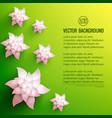 decorative flowers background vector image