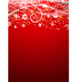 Decorative Christmas background with snowflake vector image