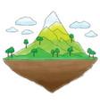 floating island mountain doodle vector image