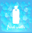 fresh water banner vector image