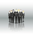 Group of a professional business team Characters vector image