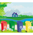 segregation of garbage vector image