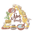 spa salon wellness beauty hand drawn doodle vector image
