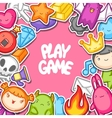 Game kawaii background Cute gaming design vector image