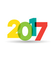2017 theme vector image vector image