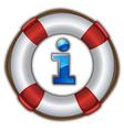 lifesaver floating vector image
